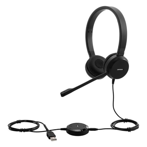 Lenovo™ Pro VOIP Stereo Kopfhörer mit geräuschunterdrückendem Mikrofon