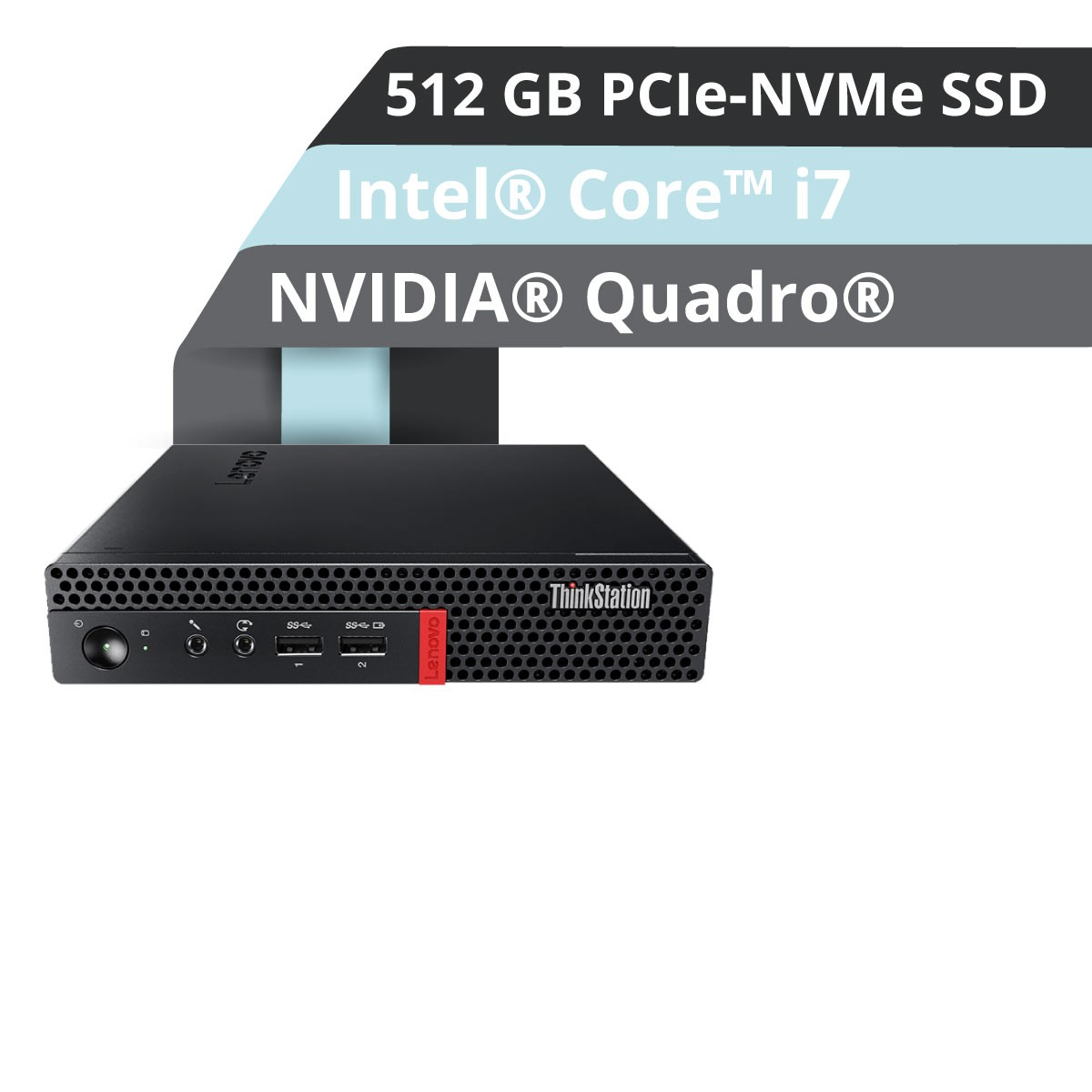 (EOL) Lenovo™ ThinkStation® P320 Tiny Workstation Modell 30C2-001X