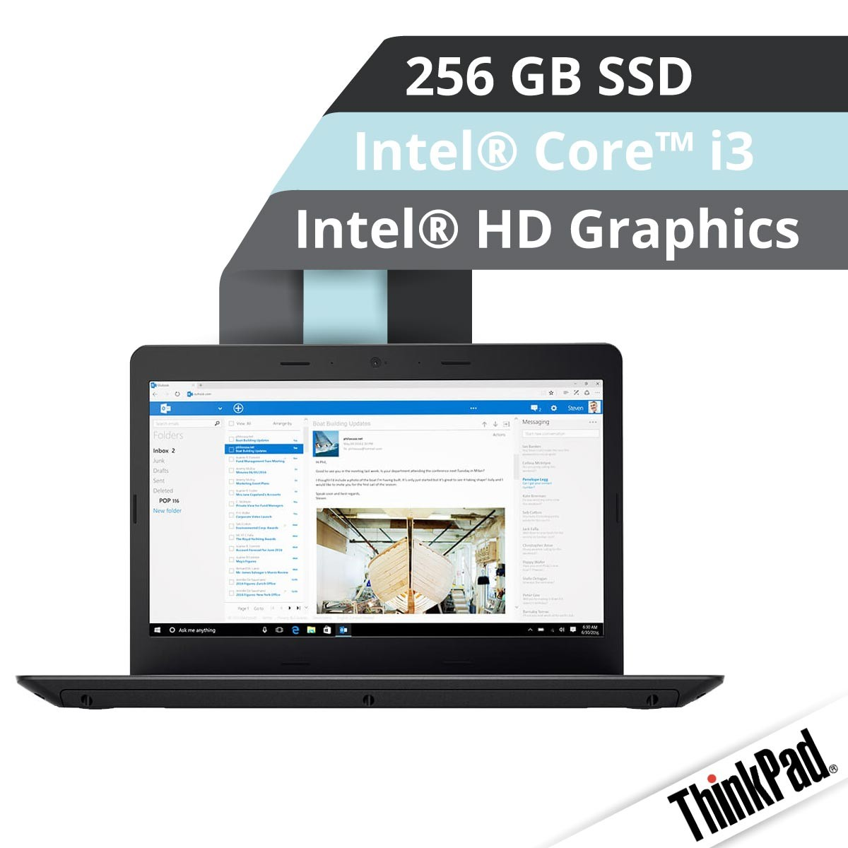 Lenovo™ ThinkPad® E470 Notebook Modell 20H2-S005 Demoartikel