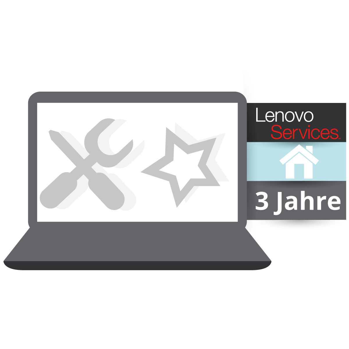 (EOL) Lenovo™ Garantie Upgrade - 3 Jahre Vor-Ort Garantie (NBD) - Basisgarantie 3 Jahre Bring-In