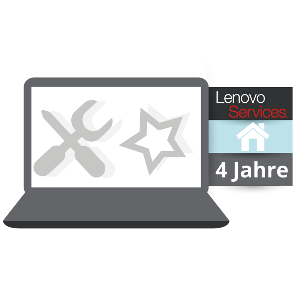 Lenovo™ Premier Support mit 4 Jahren Vor-Ort Garantie (NBD) - Basisgarantie 3 Jahre Bring-In