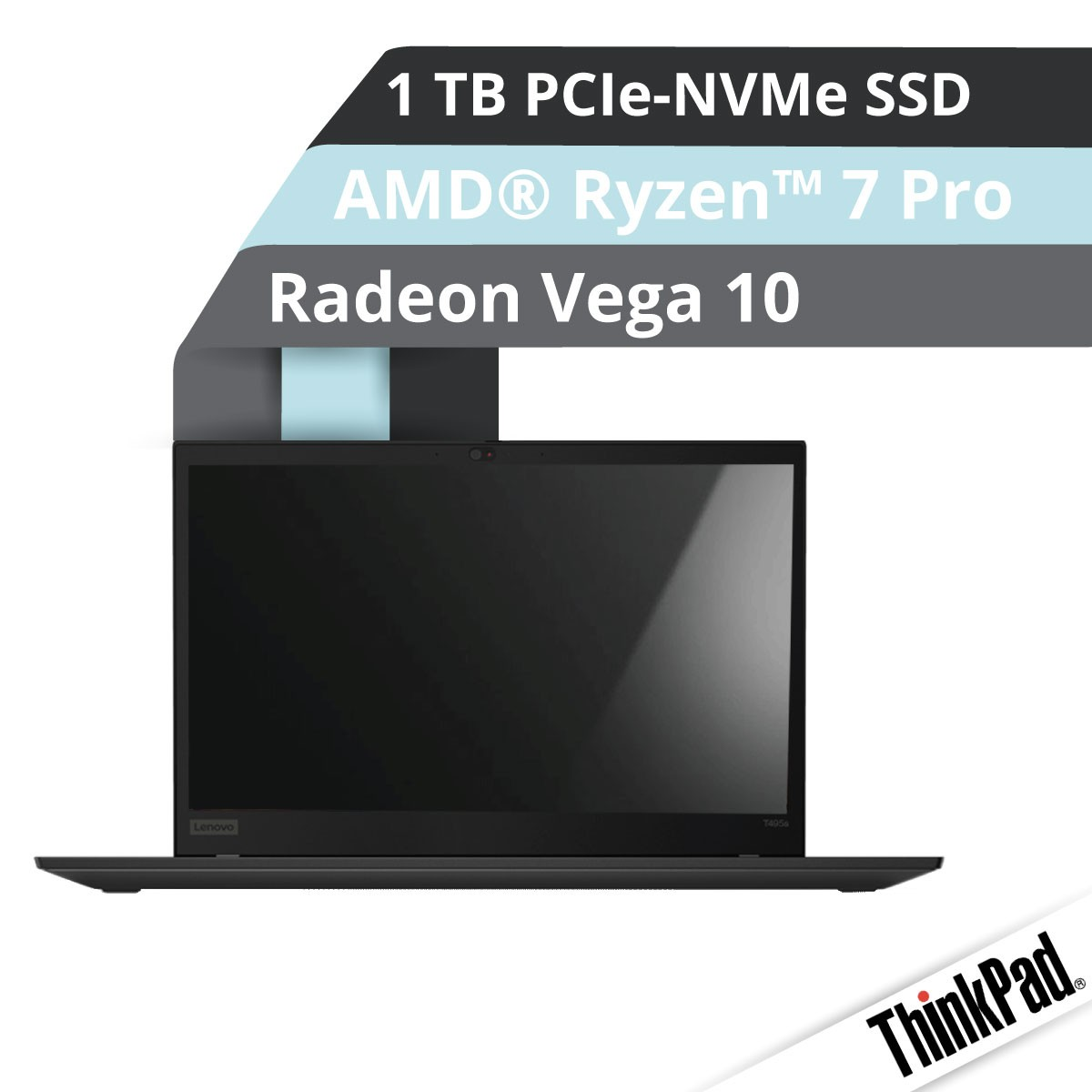 (EOL) Lenovo™ ThinkPad® T495s Notebook Modell 20QK-S01E