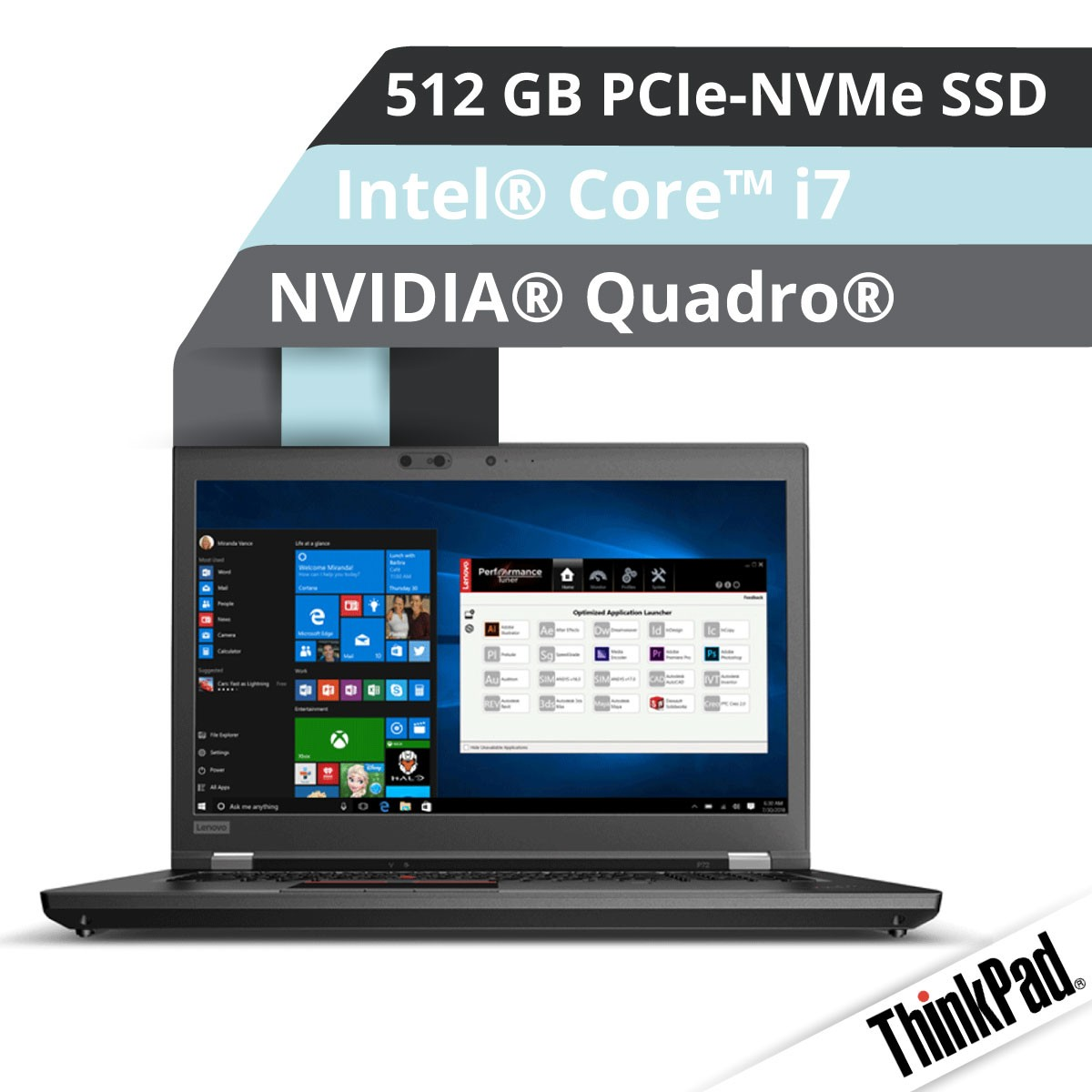 (EOL) Lenovo™ ThinkPad® P72 Workstation Modell 20MB-0005
