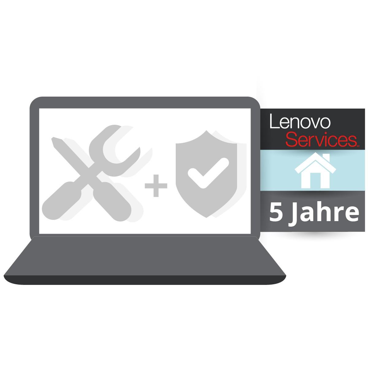 (EOL) Lenovo™ ThinkPlus® 5 Jahre Vor-Ort-Service (NBD) + Unfallschutz - Basisgarantie 3 Jahre Vor-Or