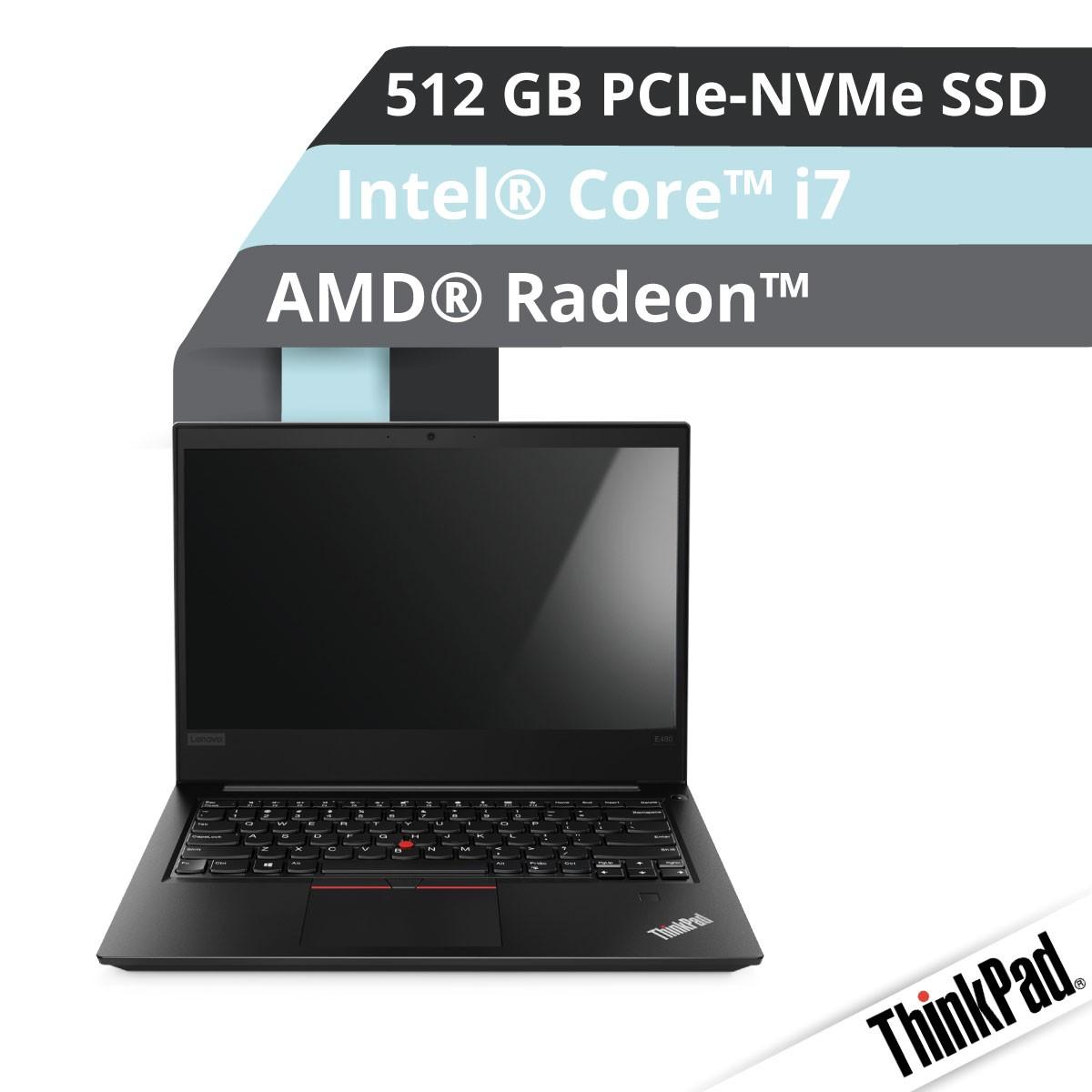 (EOL) Lenovo™ ThinkPad® E480 Notebook Modell 20KQ-S001