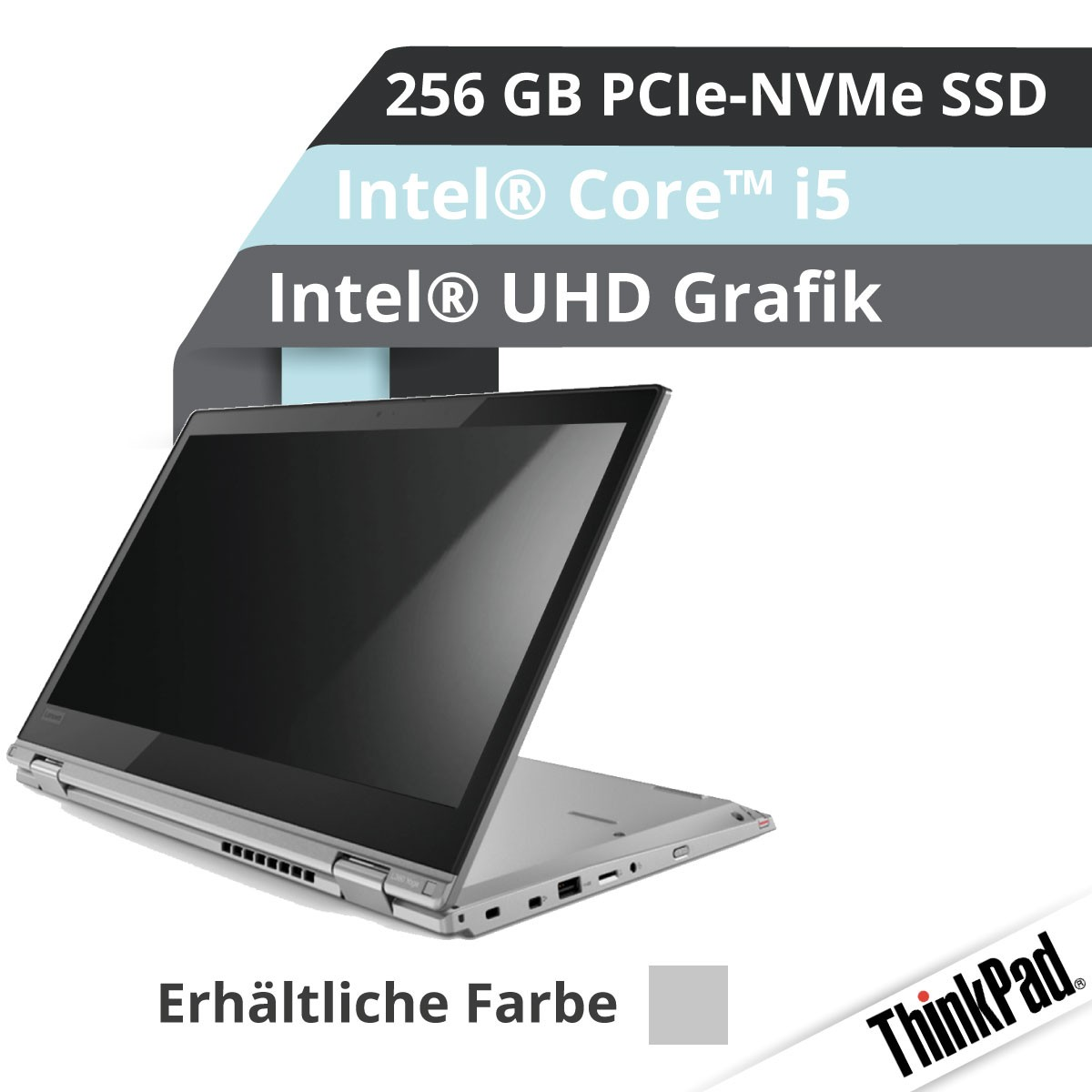 (EOL) Lenovo™ ThinkPad® L380 Yoga Notebook Modell 20M7-001D (Silber)
