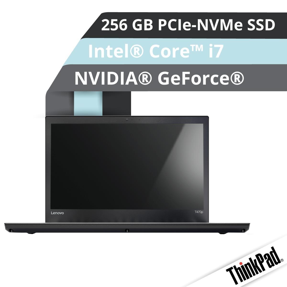 (EOL) Lenovo™ ThinkPad® T470p Notebook Modell 20J6-0018