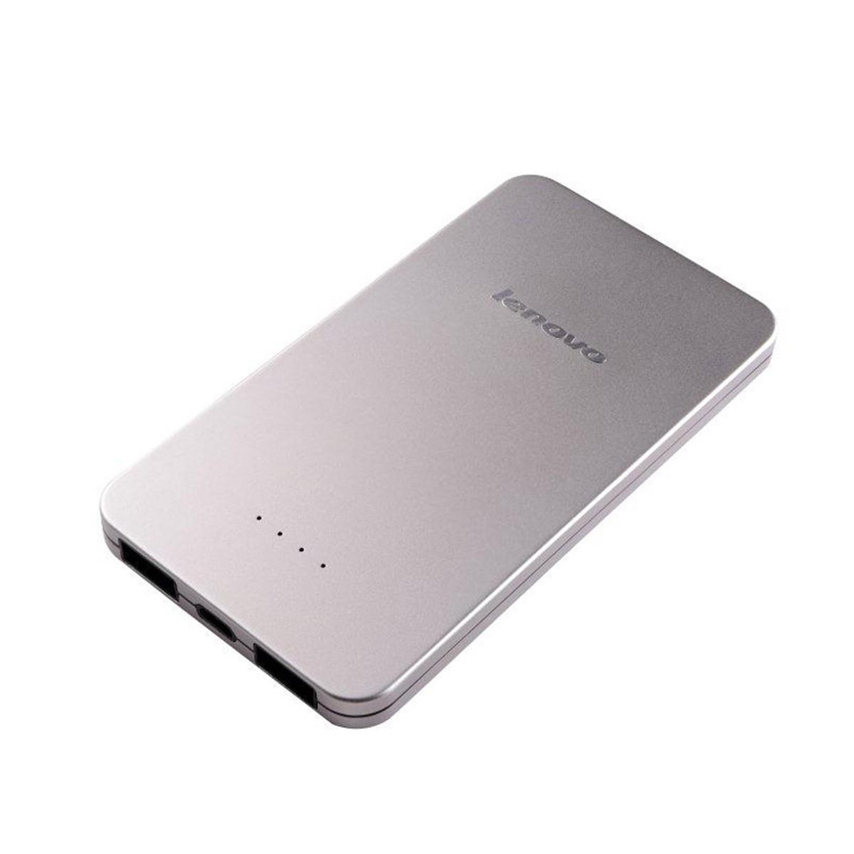 (EOL) Lenovo® 5000mAh Portable Power Bank für Tablets oder Smartphones (Silber)