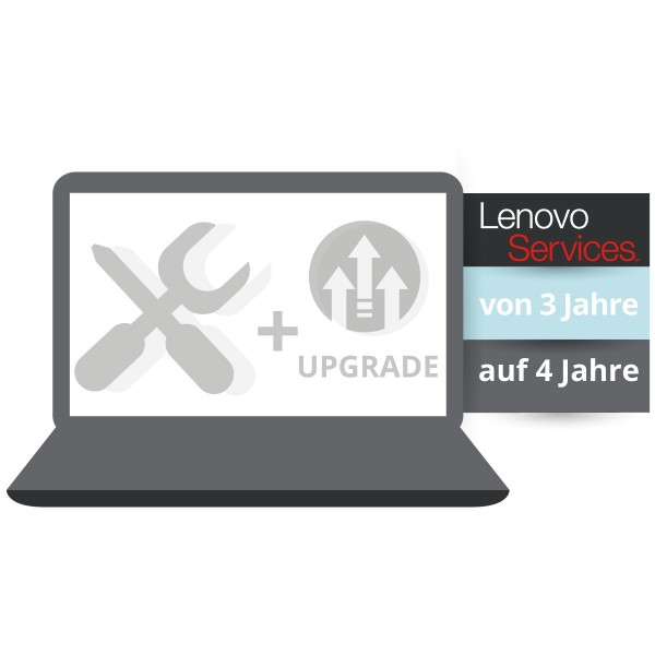 Lenovo™ Garantie Upgrade - 4 Jahre Bing-In Garantie - Basis 3 Jahre Bring-In