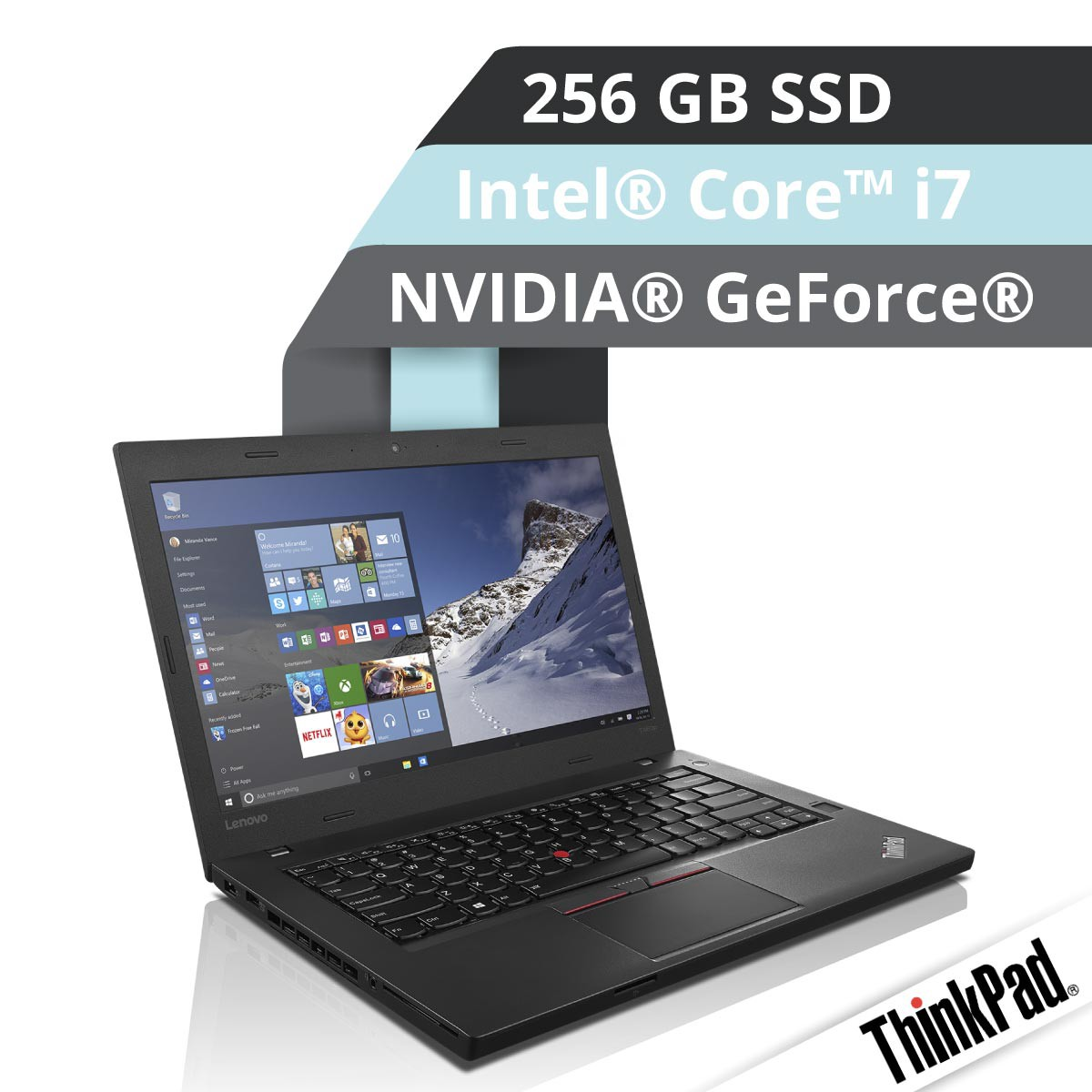 (EOL) Lenovo™ ThinkPad® T460p Notebook Modell 20FW-003N