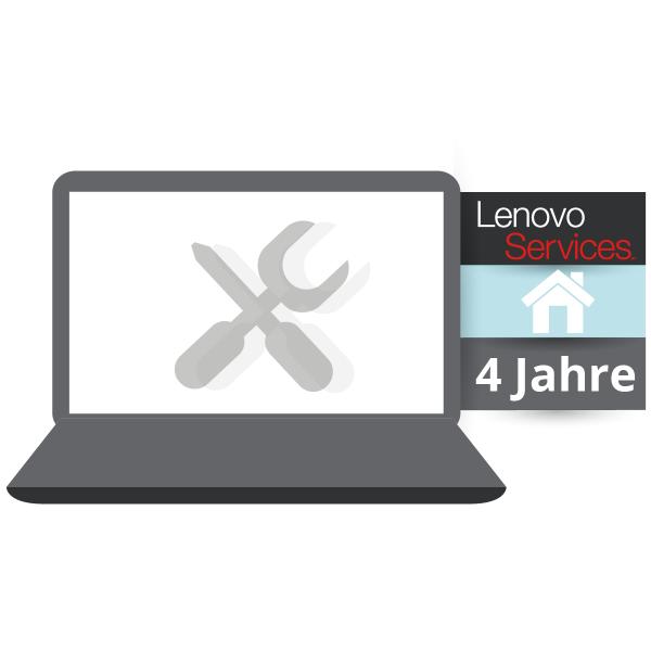 Lenovo™ ThinkPlus® 4 Jahre Vor-Ort-Service (NBD) - Basisgarantie 3 Jahre Bring-In