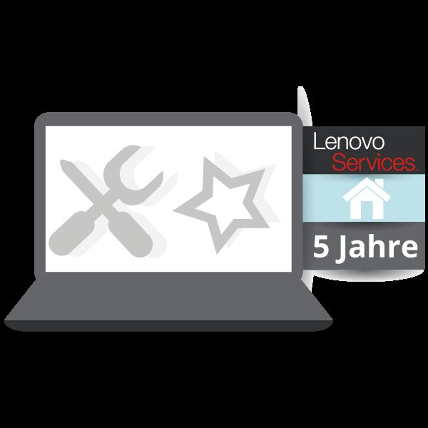 Lenovo™ Premier Support mit 5 Jahren Vor-Ort Garantie (NBD) - Basisgarantie 3 Jahre Brin-In